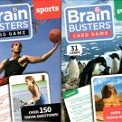 Brain Busters Card Game - Geography + Sports (2 Set of Cards)