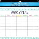 Magnetic Dry Erase Calendar - White Board Planner for Refrigerator/School Lockers - v11