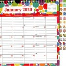 2020 Monthly Calendar - 12 Months Spiral Wall Calendar + Bonus 100 Reminder Stickers (Edition #14)