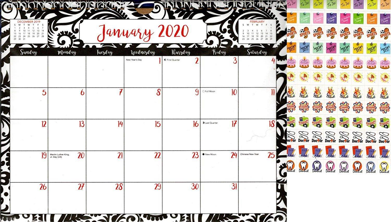 2020 Monthly Calendar - 12 Months Spiral Wall Calendar + Bonus 100 Reminder Stickers (Edition #16)
