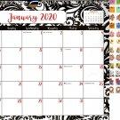 2020 Monthly Calendar - 12 Months Spiral Wall Calendar + Bonus 120 Reminder Stickers (Edition #16)