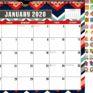 2020 Monthly Calendar - 12 Months Spiral Wall Calendar + Bonus 100 Reminder Stickers (Edition #17)