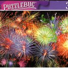 Colorful Fireworks Over The Night Sky - 300 Pieces Jigsaw Puzzle (p 012)