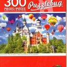 Neuschwanstein Castle with Balloons - 300 Pieces Jigsaw Puzzle