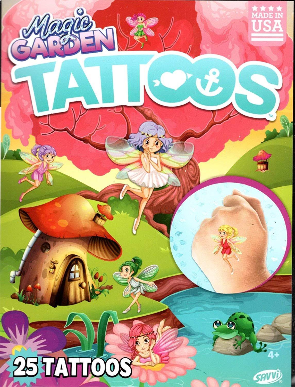 Savvi Magic Garden - Temporary Tattoos - 25 Tattoos