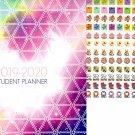 2019-2020 Student Monthly Planner Calendar (Geometric)