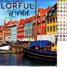 Colorful World - 16 Month 2020 Wall Calendar (September 2019 - December 2020)