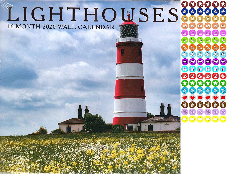 Lighthouses - 16 Month 2020 Wall Calendar (September 2019 - December 2020)