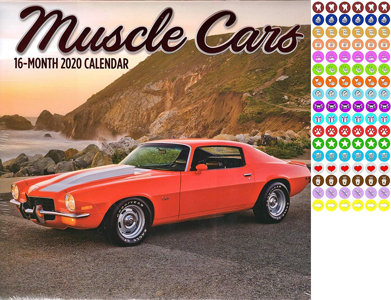 Muscle Cars - 16 Month 2020 Wall Calendar (September 2019 - December 2020)