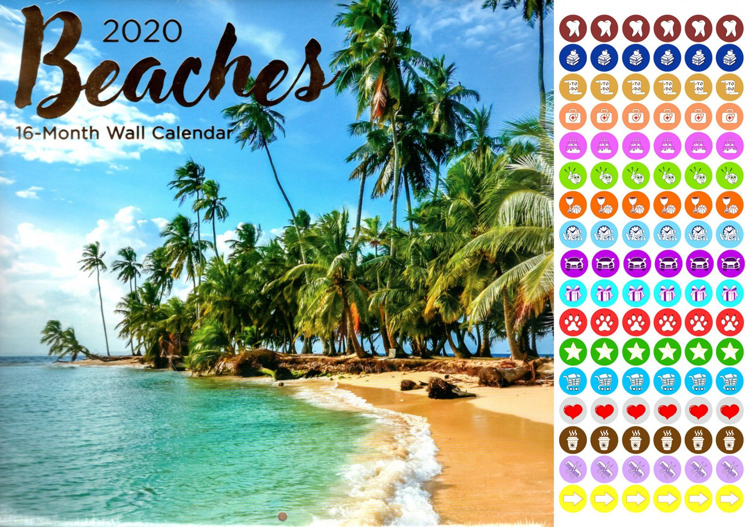 Beaches - 16 Month 2020 Wall Calendar (September 2019 - December 2020)