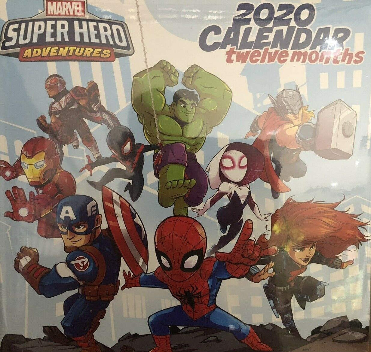 Marvel Super Hero Adventures 2020 Monthly Calendar - Twelve Months/Year