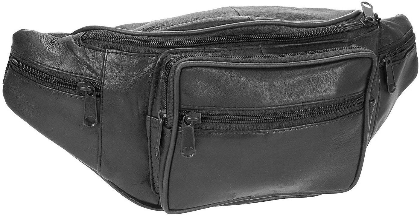 Stone Mountain Mens Leather Belt Bag One Size Black