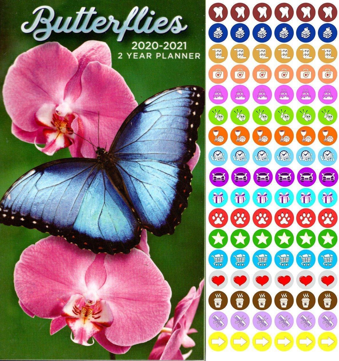 Butterflies - 2020-2021 2 Year Pocket Planner/Calendar/Organizer