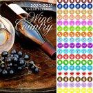 Wine Country 2020-2021 2 Year Pocket Planner/Calendar/Organizer