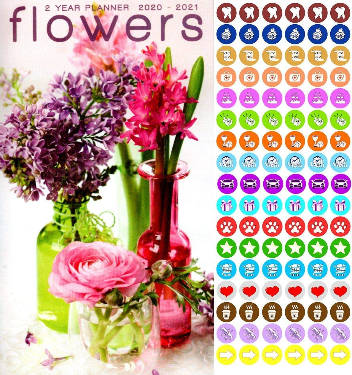 Flowers - 2020-2021 2 Year Pocket Planner/Calendar/Organizer
