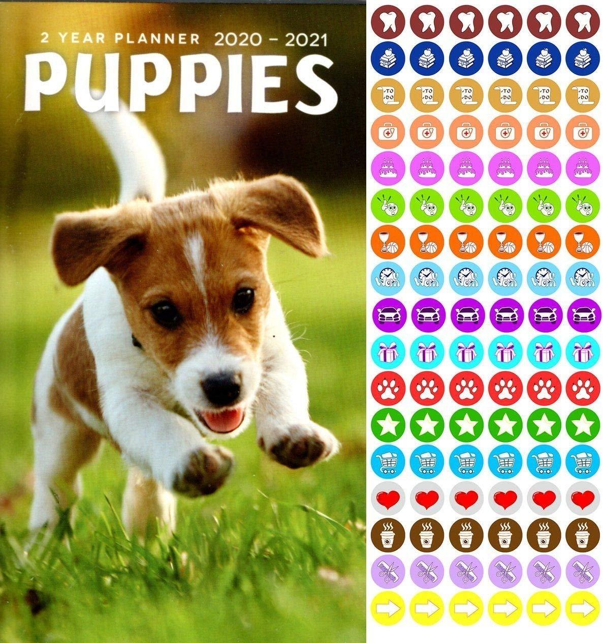 Puppies 2020-2021 2 Year Pocket Planner/Calendar/Organizer