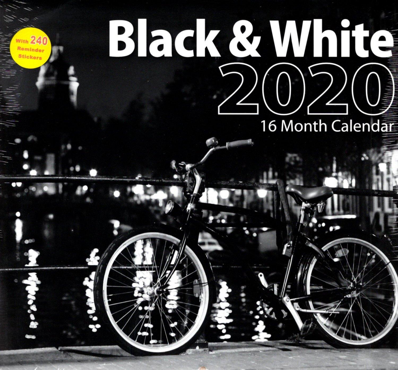 2020 Black & White Full Size 16 Month Wall Calendar