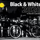 2020 Black & White Full Size 16 Month Wall Calendar