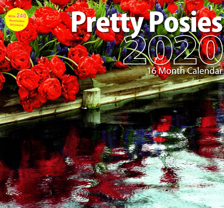 2020 Pretty Posies Full Size 16 Month Wall Calendar