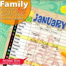2020 Family Full Size 16 Month Wall Calendar