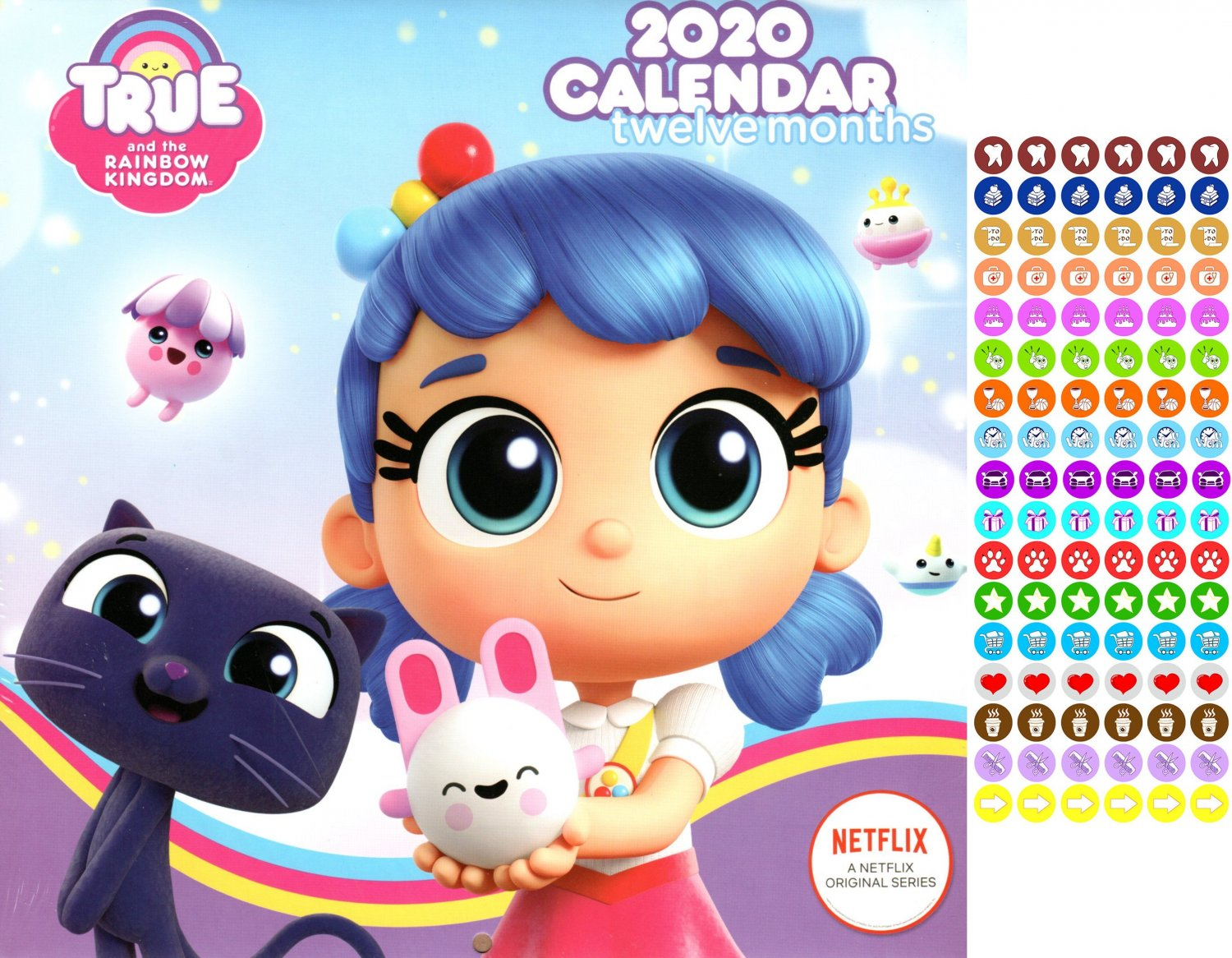 True and the Rainbow Kingdom  - 12 Month 2020 - with 100 Reminder Stickers