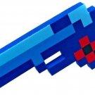 "U.C.C Distribution Pixelated 8-Bit 10"" Foam Blue Gun Collectible Toys"
