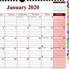 2020 Monthly Calendar - 12 Months Spiral Wall Calendar/Planner