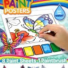 Butterfly Magic Paint Posters - 8 Paint Sheets + 1 Paintbrush + Stickers