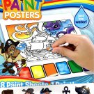Pirates Magic Paint Posters - 8 Paint Sheets + 1 Paintbrush + Stickers