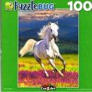 White Stallion - 100 Pieces Jigsaw Puzzle