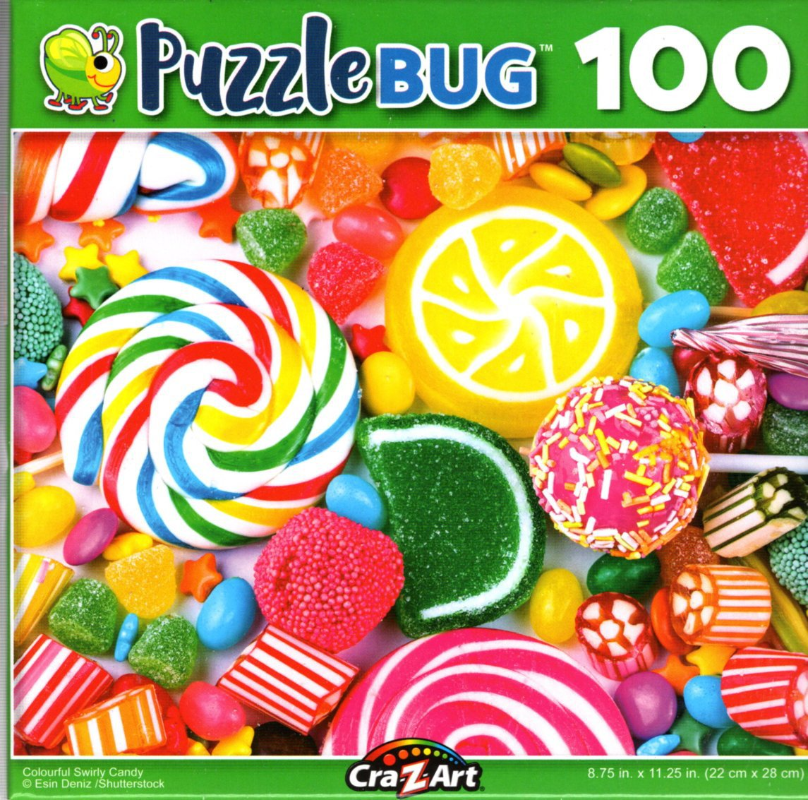 Colourful Swirly Candy - 100 Pieces Jigsaw Puzzle