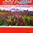 Wild Flowers in Bloom, Mount Ranier, WA - 500 Piece Jigsaw Puzzle - Puzzlebug