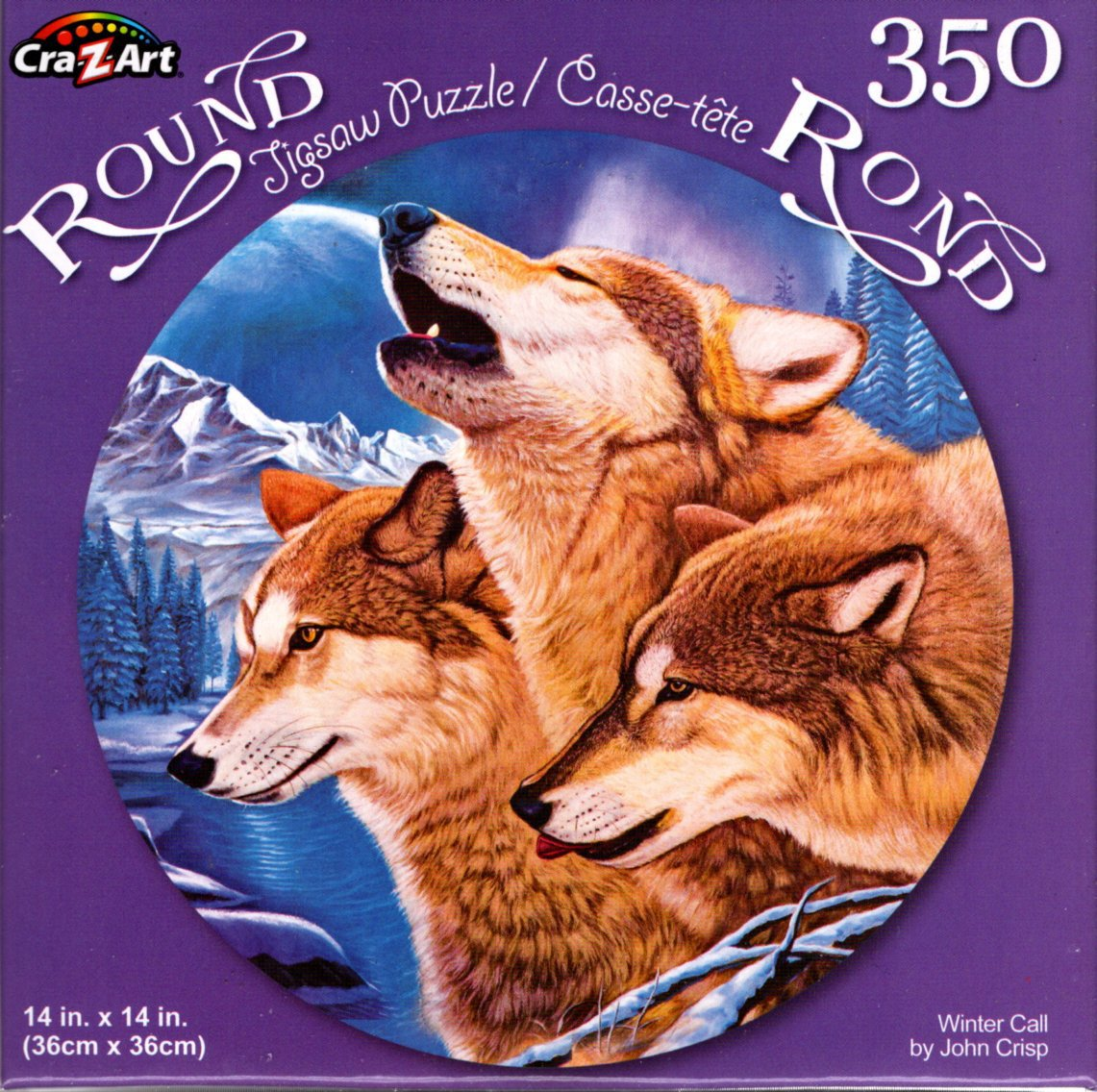 Winter Call by John Crisp - 350 Piece Round Jigsaw Puzzle