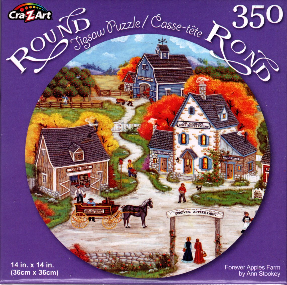 Forever Apples Farm by Ann Stookey - 350 Piece Round Jigsaw Puzzle