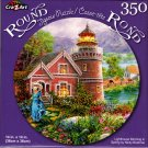 Lighthouse Morning in Spring by Nicky Boehme - 350 Piece Round Jigsaw