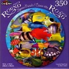 Colorful Reef Fish by Banu Satrio - 350 Piece Round Jigsaw Puzzle