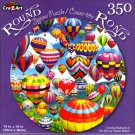 Colorful Balloons in the Sky by Sergio Botero - 350 Piece Round Jigsaw Puzzle