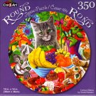Curious Kittens by Gerald Newton - 350 Piece Round Jigsaw Puzzle
