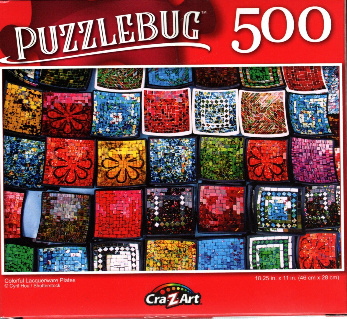 Colorful Lacquerware Plates - 500 Pieces Jigsaw Puzzle