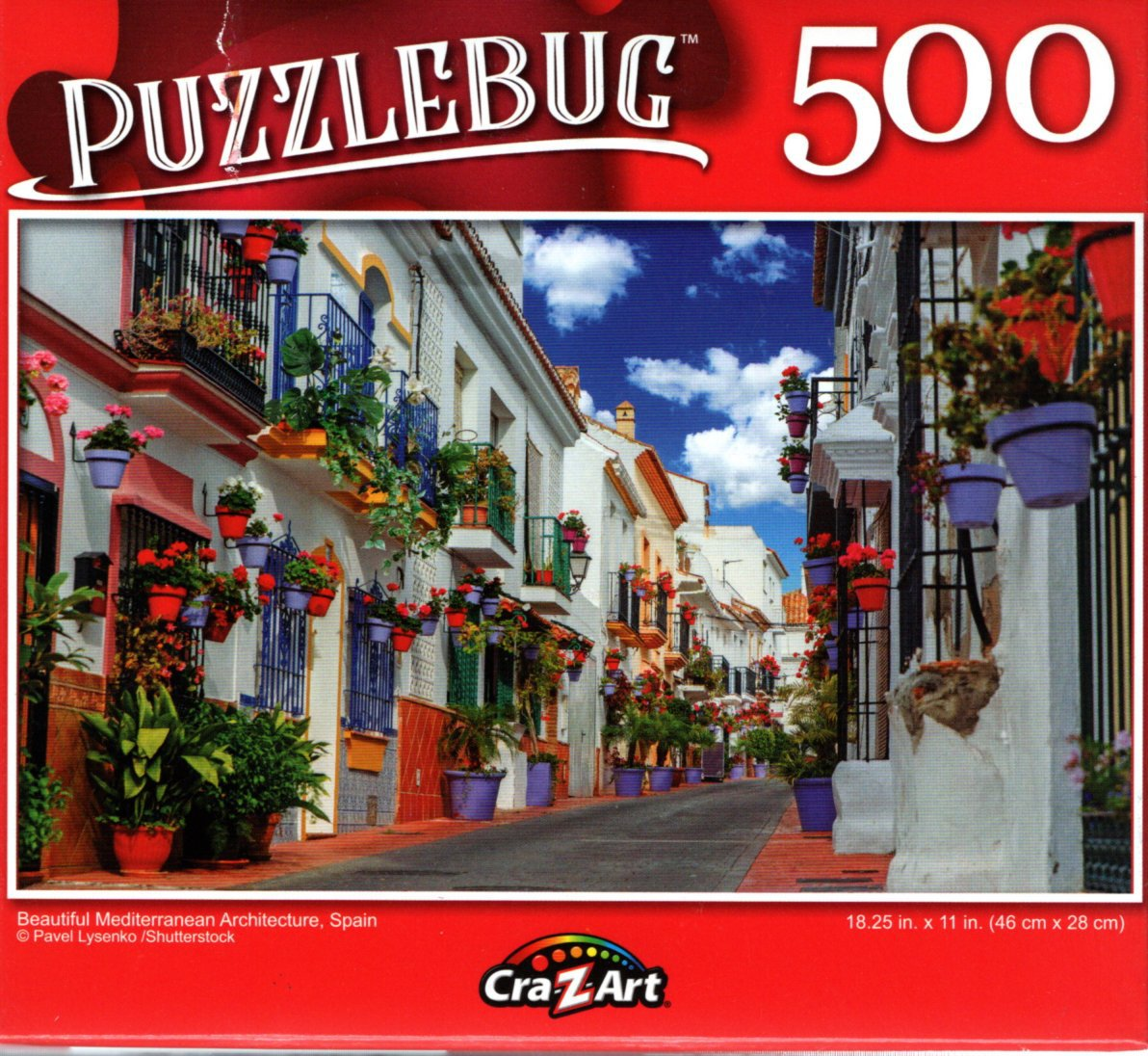 Beautiful Mediterranean Architecture, Spain - 500 Pieces Jigsaw Puzzle