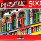 Colorful Building in Littlee India, Singapore - 500 Pieces Jigsaw Puzzle