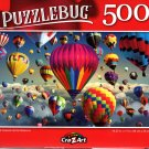 Multi Colored Hot Air Balloons - 500 Pieces Jigsaw Puzzle