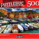 Colorful Buildings and Harbor with Luxury Yacht and Boats, Liguria, Italy - 500 Pieces Jigsaw Puzzle