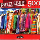 Colorful Silk Pareos - 500 Pieces Jigsaw Puzzle