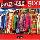 Colorful Silk Pareos - 500 Pieces Jigsaw Puzzle