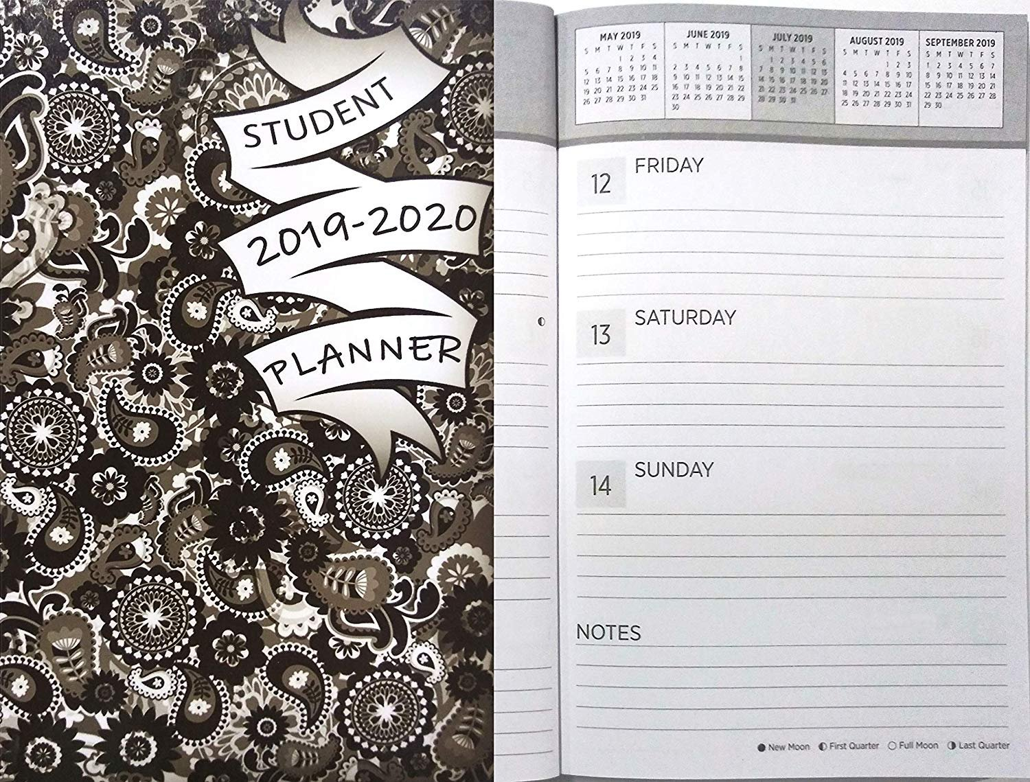 2019-2020 Student Academic Weekly Planner Calendar (Paisley Soft Cover - Edition #1)