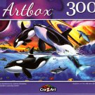 Orca Symphony by Lorenzo Tompesta - 300 Pieces Jigsaw Puzzle