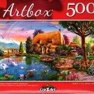 Lakeside Cottage by Abrian Chesterman - 500 Pieces Jigsaw Puzzle