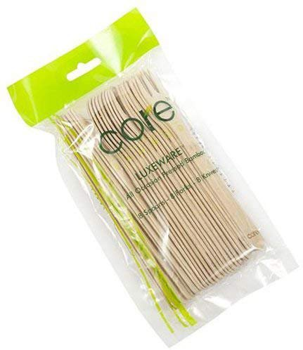 Core Bamboo Luxeware Pack of 8 Forks 8 Spoons 8 Knives