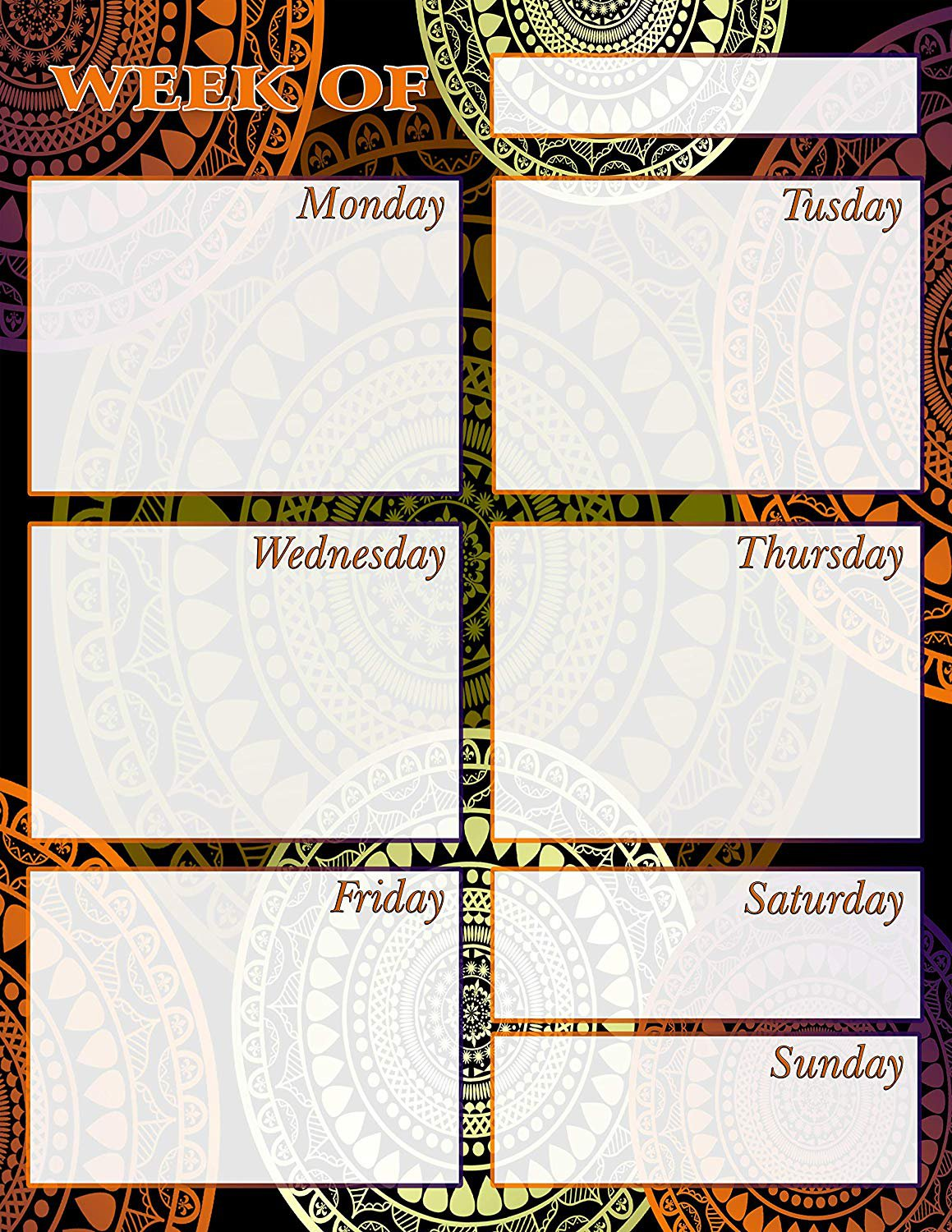 Chore Chart/Weekly Planner/to Do List/Message Board